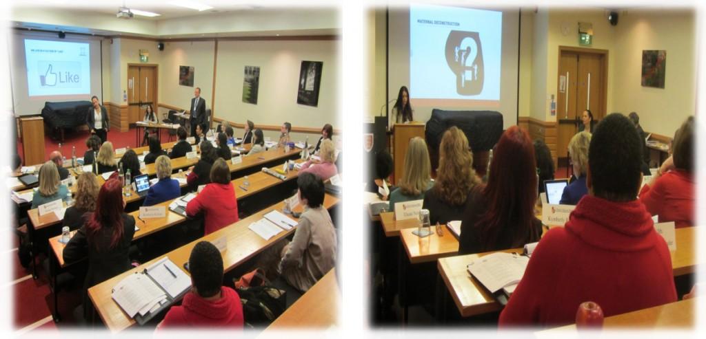 """ד""""ר יעל בנקירר מרצה Rethinking motherhood and career ; אני ממשיכה את ההרצאה מדגימה את השימוש במודל: M-POWER career family synergy"""